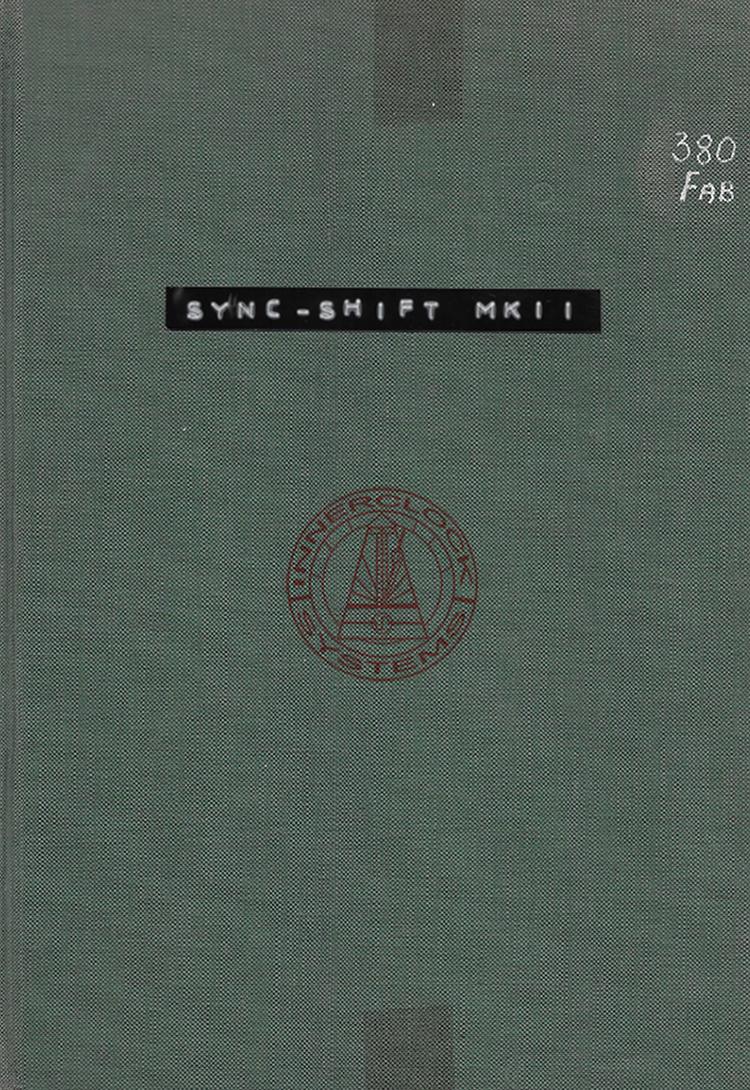 Sync-Shift MKIII Operation Manual