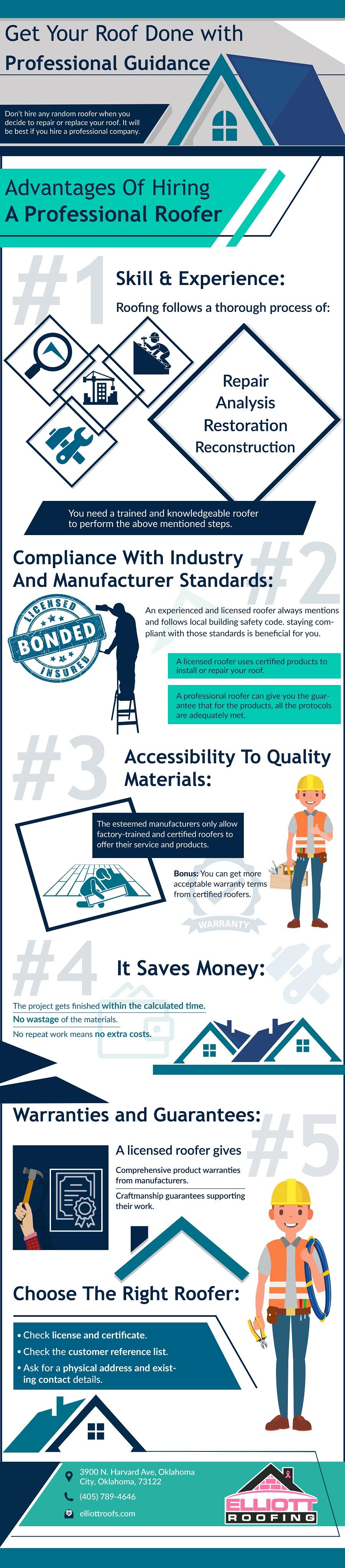 Advantages of hiring a professional roofer