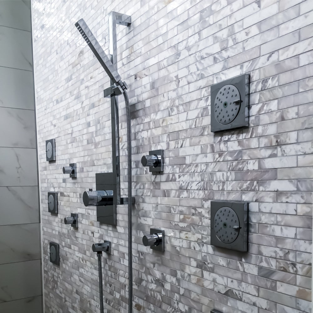 Showers - Showers today aren't solely for rinsing. Interest in home design and well-being increased, and with it demand for high-end, unique and custom showers. Showers are now used to make a statement in a bathroom's design and to enhance comfort and quality of life.