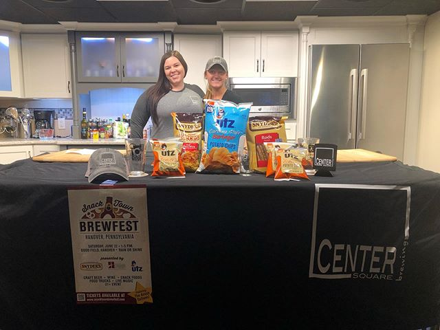 Tune in to @fox43 at 9:20 to see us tasting some snack/beer pairings from Center Square Brewing!