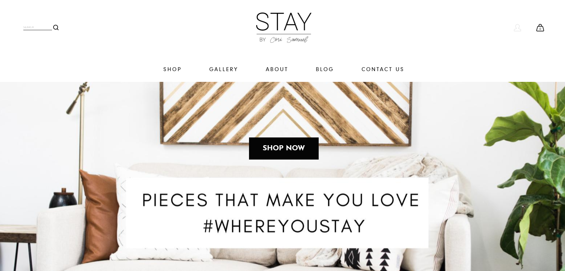 Stay by Cori Samuel requested a custom website to host their online store. I developed the site's HTML and CSS on Squarespace, and collaborated with the owners for their site's content. The final project displays a user-friendly, aesthetically clean, e-commerce shop. Find the published site  here .
