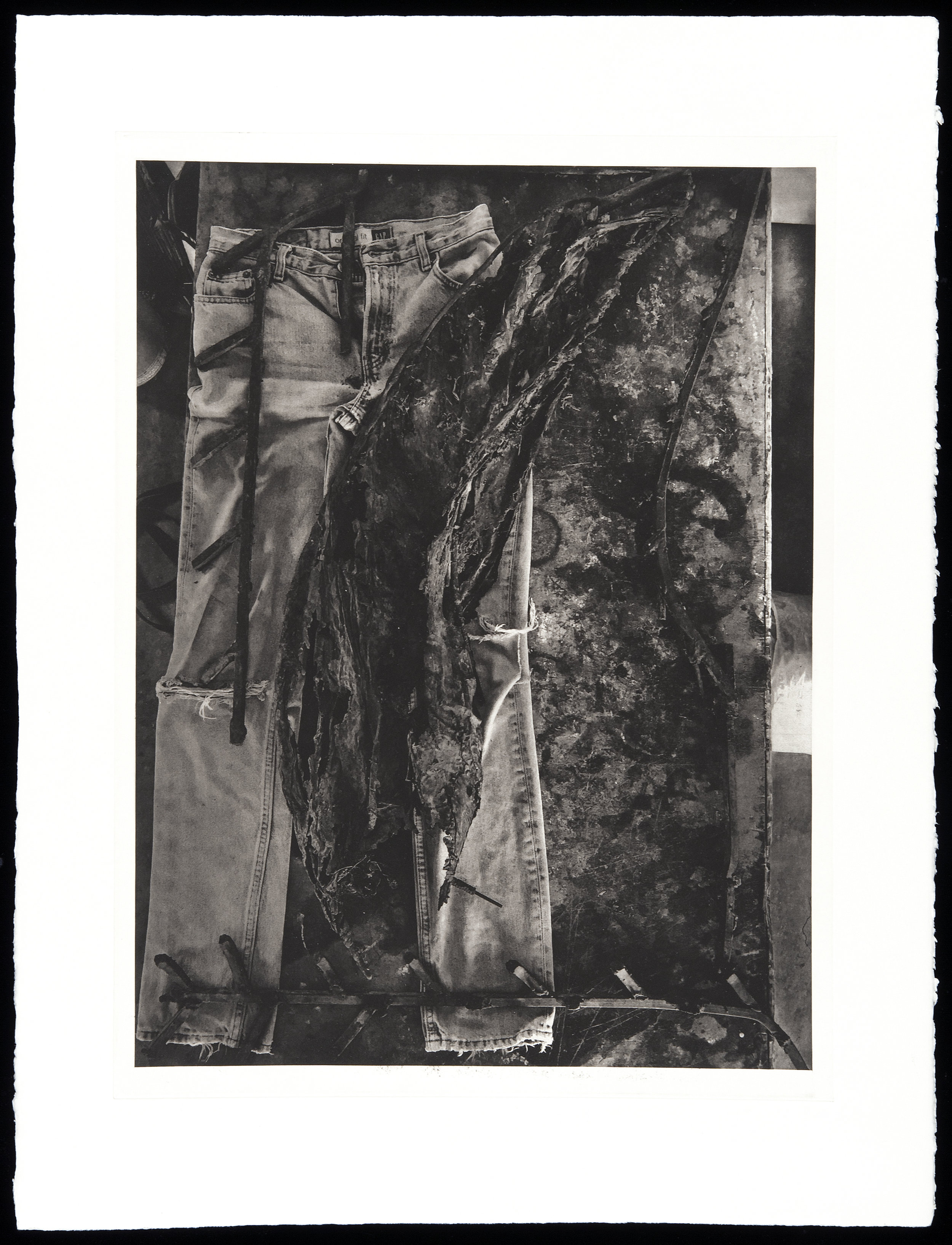 """""""Broken 1969"""", 22"""" x 30"""", photogravure of sculpture"""