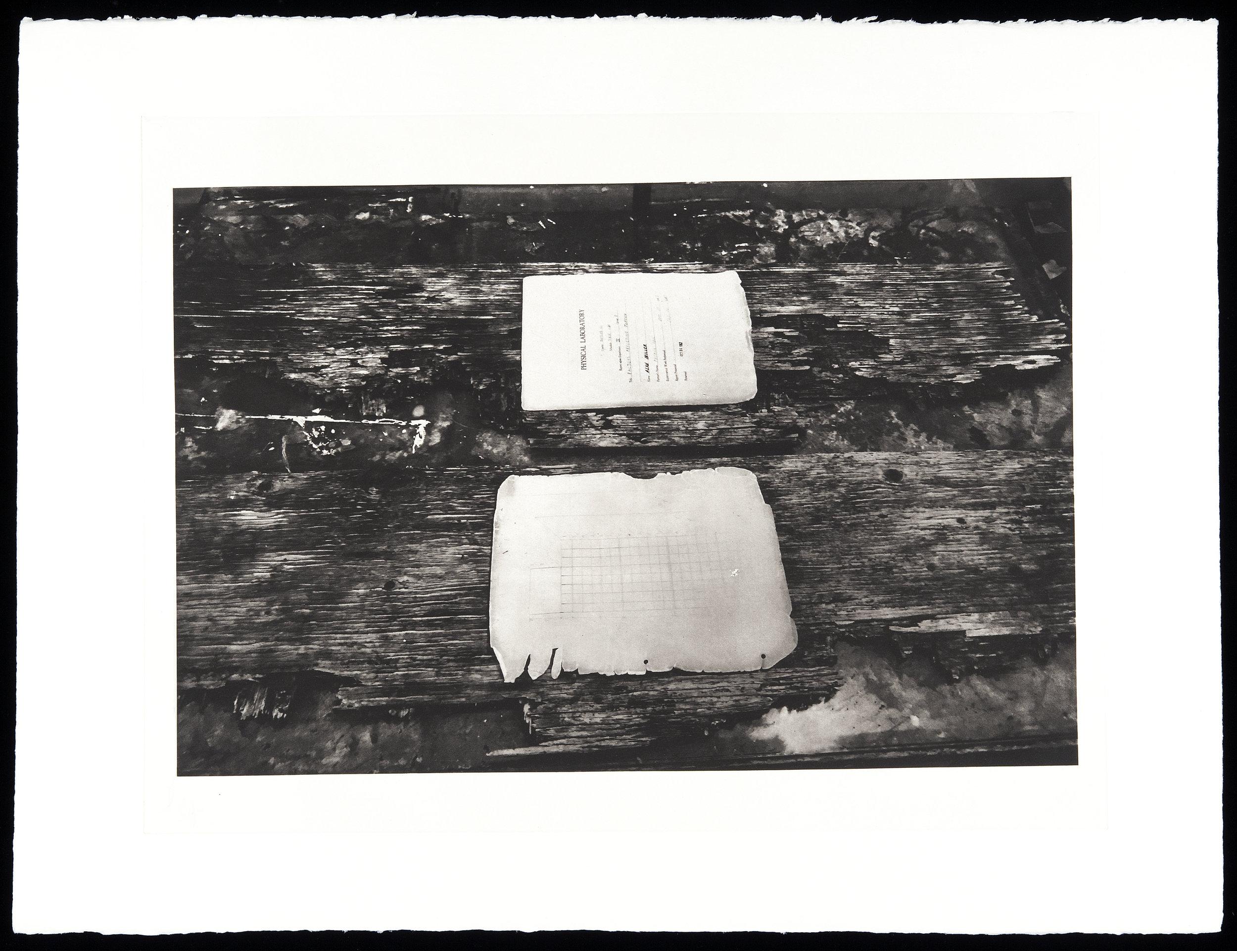 """Memorial to L.L. Dintiman"", 22"" x 30"", photogravure of wood sculpture"