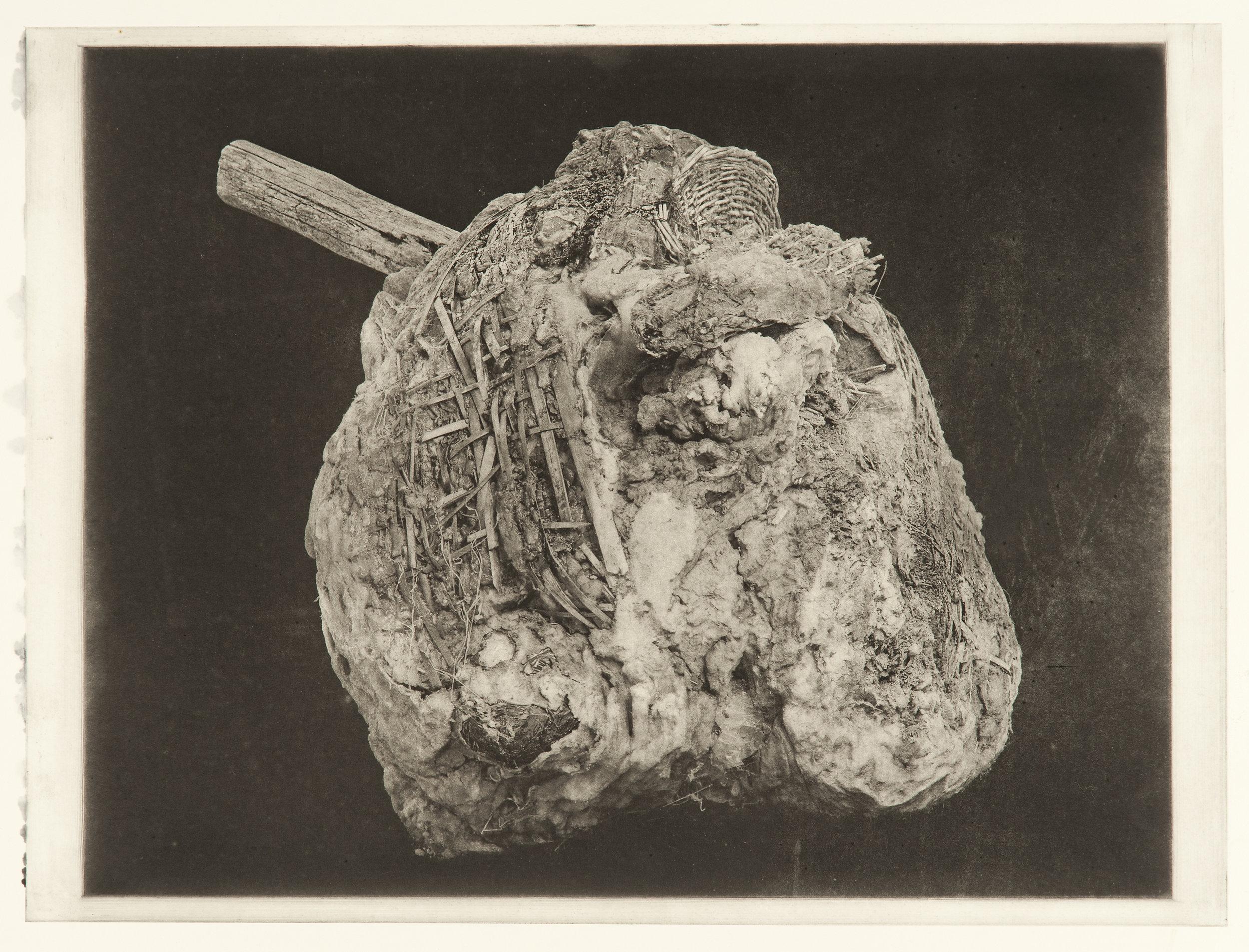 """Degeneration # 4456"", 22"" x 30"", photogravure of urethane sculpture weathered"