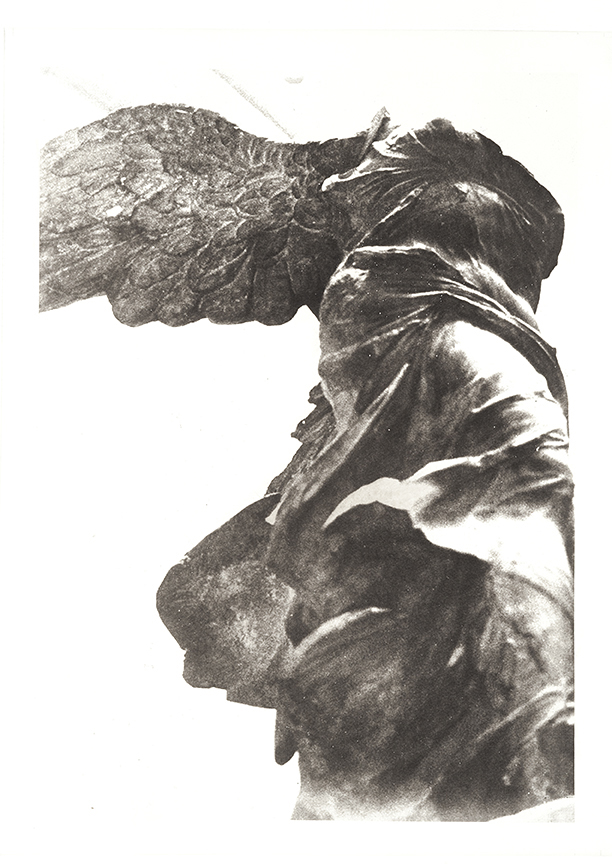 """""""Empath's Courage"""", 22"""" x 30"""", photogravure of Winged Victory"""