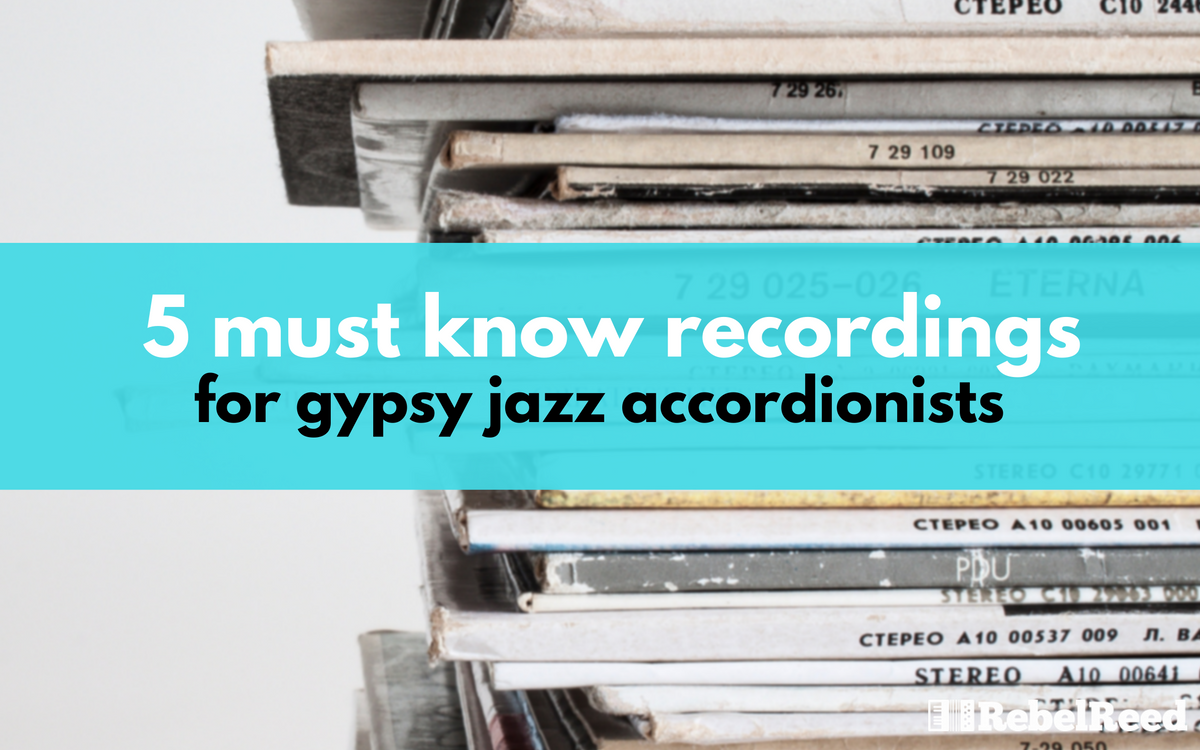 I picked 5 of my absolute favorites - by 5 of my favorite accordionists. The role of accordion in Gypsy Jazz is not as prominent as violin, but these 5 players exemplify the style and role of the accordion.
