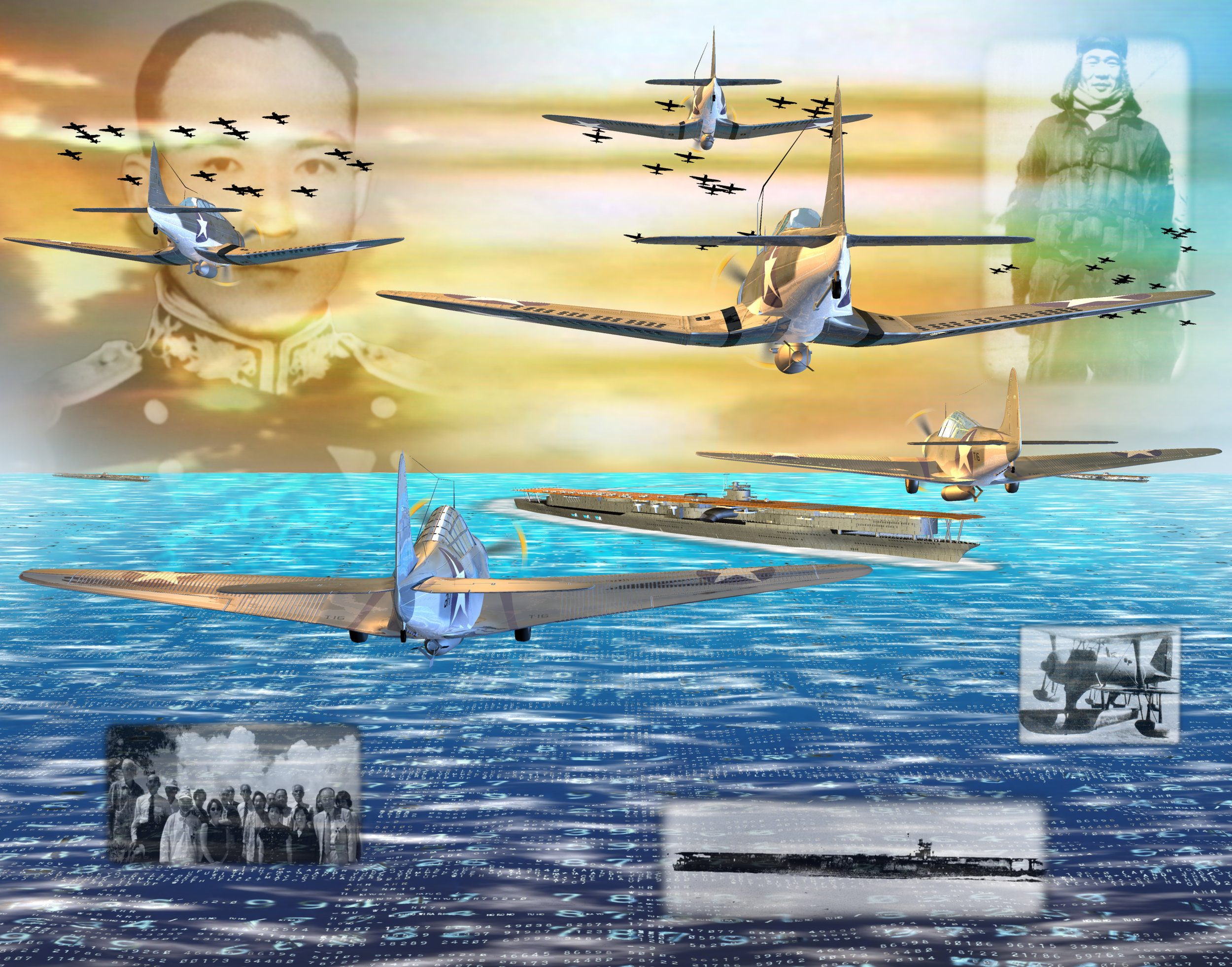 Battle of Midway Memorial detail, Part IV: Japanese and American Veterans Today, 2001