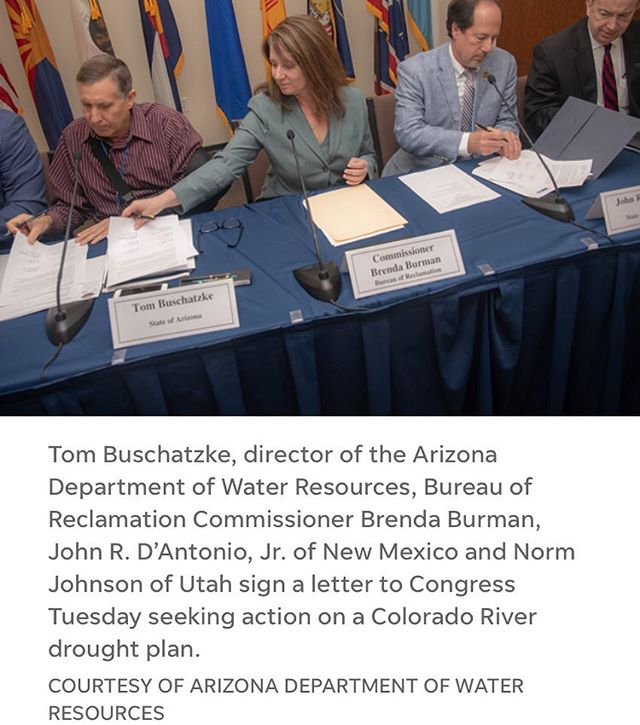 This is HUGE! Western states finish Colorado River drought deal, ask Congress to sign off - @desertsun March 21, 2019