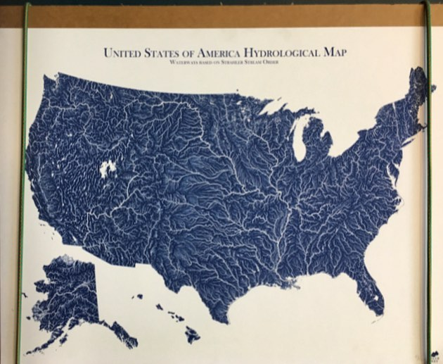Happy #earthday. As you can see from this image, waterways run through the U.S. like veins in a body. Take the time today to learn ways to treat the world better.  #happyearthday #oncewaswater #noplastic #conservation #sustainability #water #watersustainability