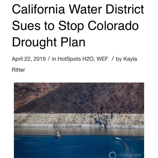 Imperial Irrigation District (IID) of California has sued to halt a basinwide drought plan. The lawsuit was filed the same day that President Donald Trump signed legislation to implement the plan. Head over to the @circleofblue website for more information. #water #watersustainability #waterconservation #documentary #oncewaswater