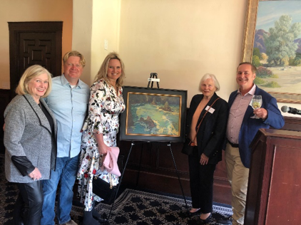 Left to right:  Mimi Michaelson, Artist Wyllis Heaton, Kristan O'Donnell, Advisory board member, Berta Binns, AFOSB President, Keith Mautino Moore.