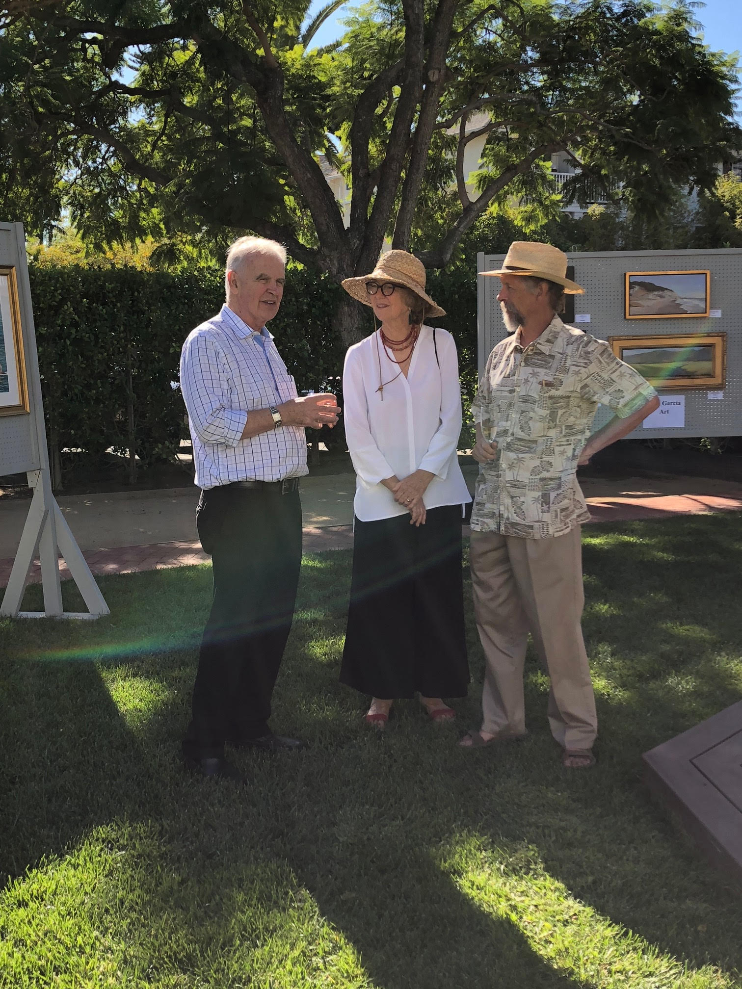 Left to Right: Exhibiting Artists Ralph Waterhouse, Ann Sanders and Ray Hunter