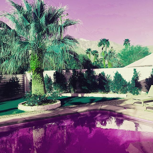 Palm Springs is such an inspirational spot for dreaming up new Synthwave ideas. Blasting our first single REPLICANT, @gunshipmusic @kavinsky and @carpenterbrut by the pool and gazing at the picture postcard mountains. This view might need to be the new single cover! #synthwave #inspiration #musicproducer #palmsprings #california #electronicmusic #retro #future #sun #newmusic #coverart #poolside