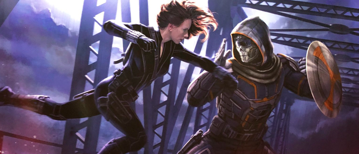 Black Widow  concept art featuring Taskmaster by Marvel Studios artists Andy Park