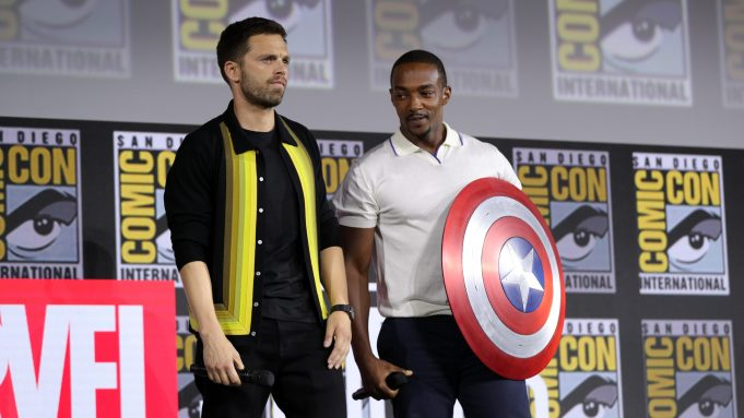 The Falcon and Winter Soldier  stars Sebastian Stan and Anthony Mackie discuss the upcoming series at Comic-Con