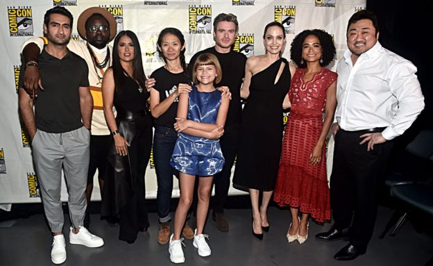 The cast and director of  The Eternals  at Comic-Con