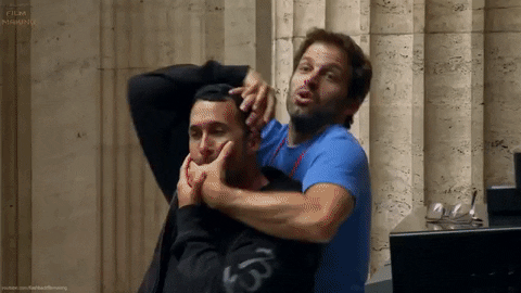 """""""CHALLENGE!"""" - Zack Snyder to an audience member probably"""