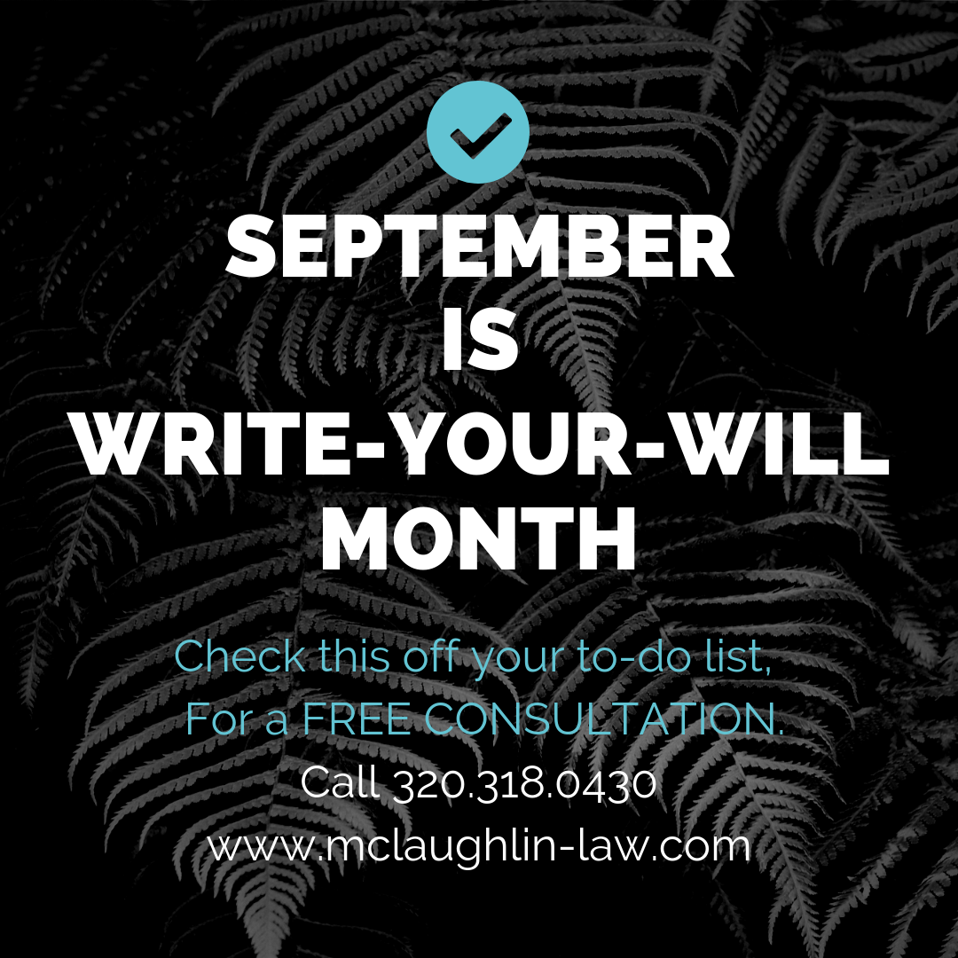 Minnesota Write Your Own Will McLaughlin Law Estate Planning