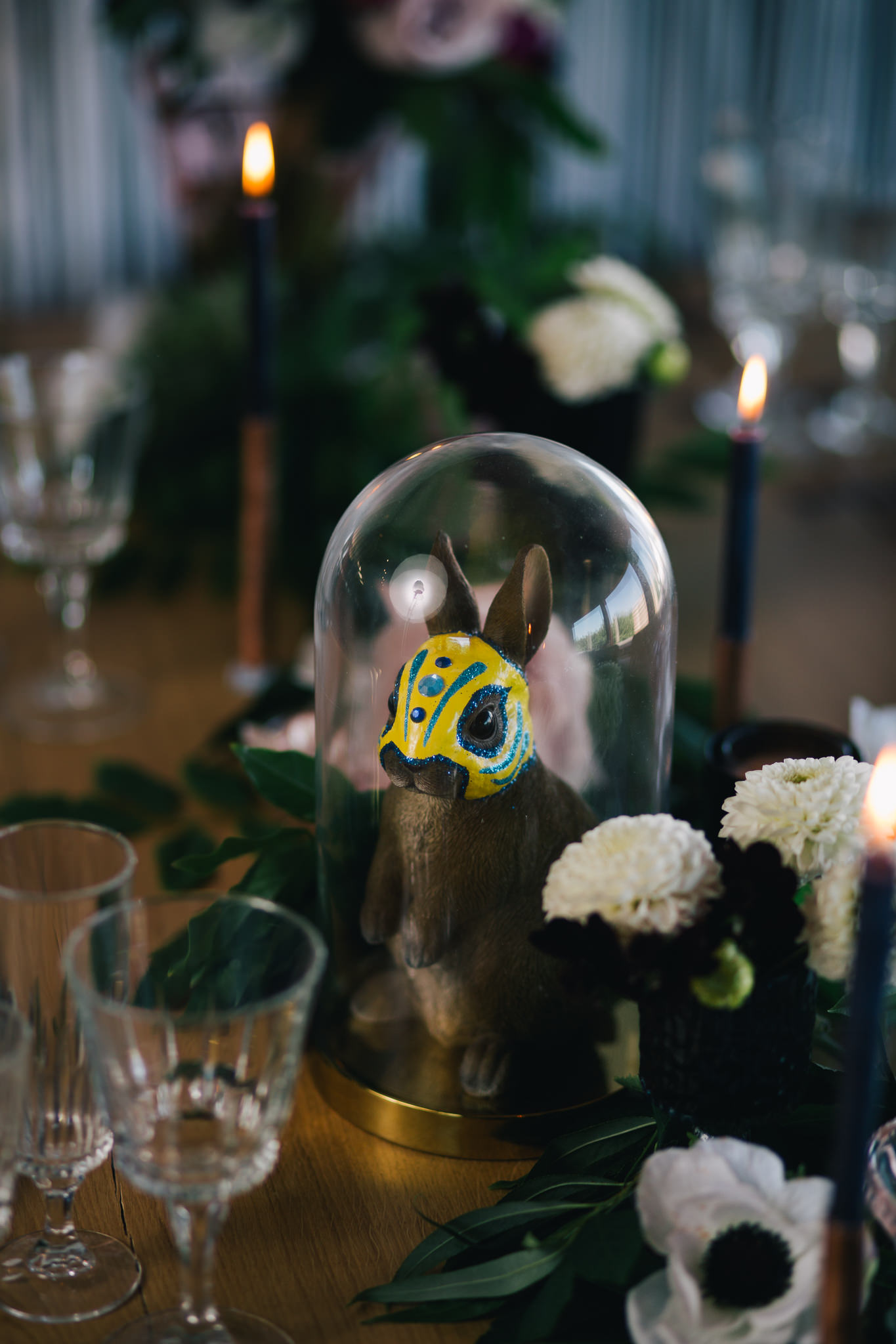 Rock'n'Roll Wedding Table dressing | Image courtesy of Adj Brown