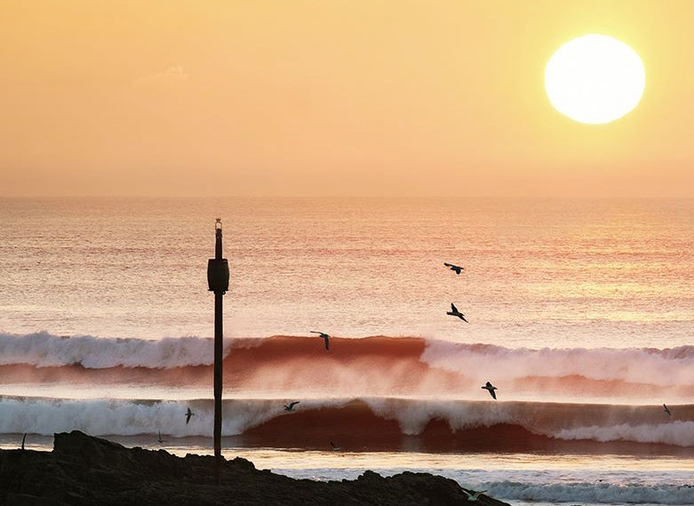 Barrel Rock Bude Sunset   Image courtesy of Ocean & Earth Photography
