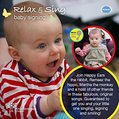 Join Happy Ears and friends on a magical journey in these fabulous songs. This is the course music for our Baby Signing course. It includes 21 MP3 downloads to sing along to with your little one.  Guaranteed to get you singing, dancing and smiling :-)