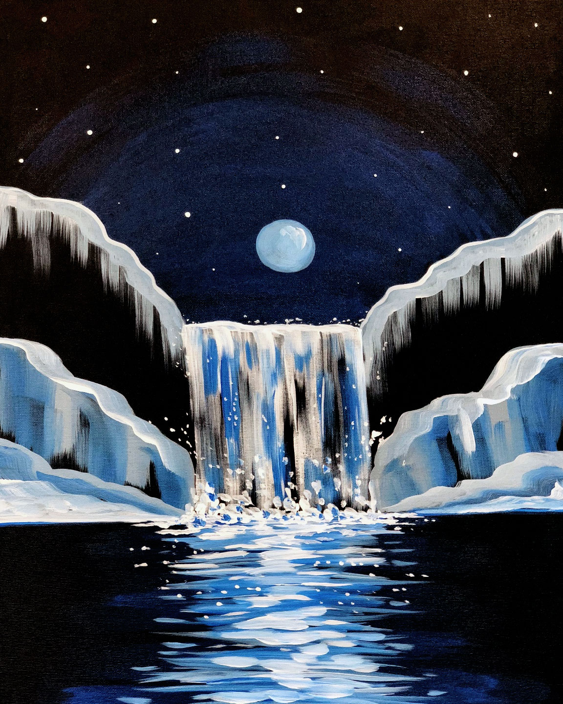 Icy Waterfall (2 hours)