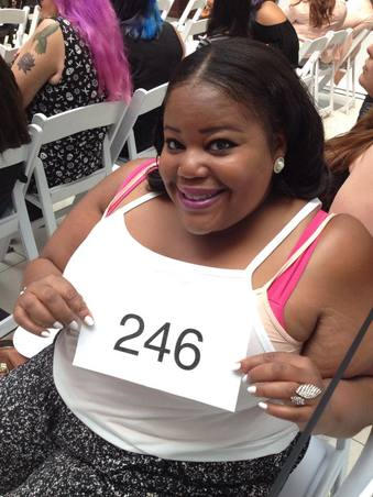 Me at a model search in LA for Torrid in 2015.