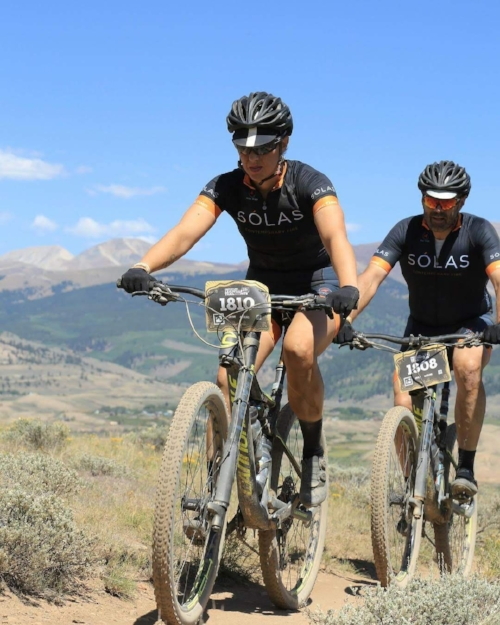 Kayla and Barney Brannen in the  Leadville 100 , August 11, 2018