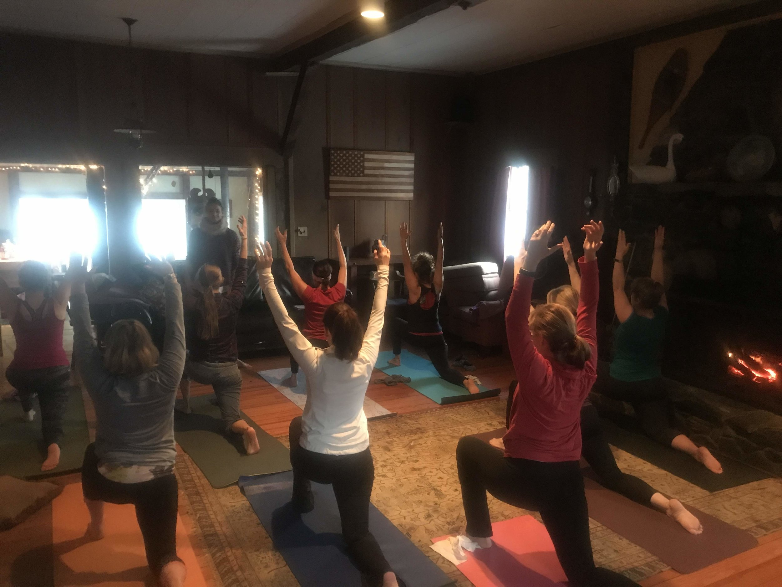 Morning Yoga with Becky Hooper of  Upper Valley Yoga
