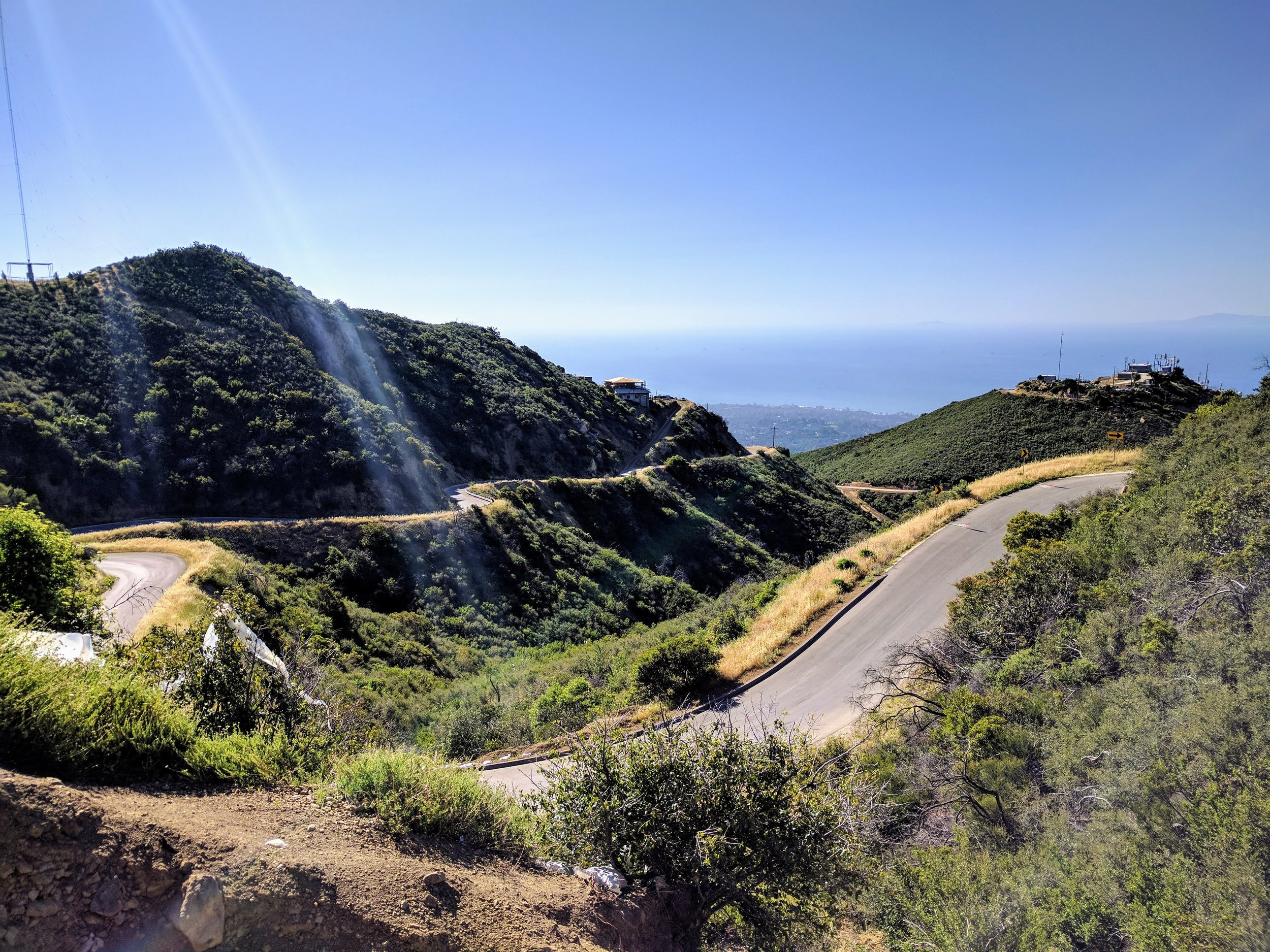 The epic Gibraltar Road climb to La Cumbre Peak