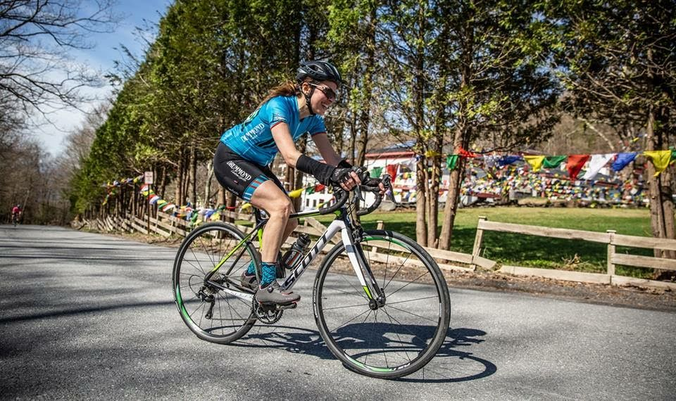 Jen Barden at the  Women's Woodstock Cycling Grand Prix