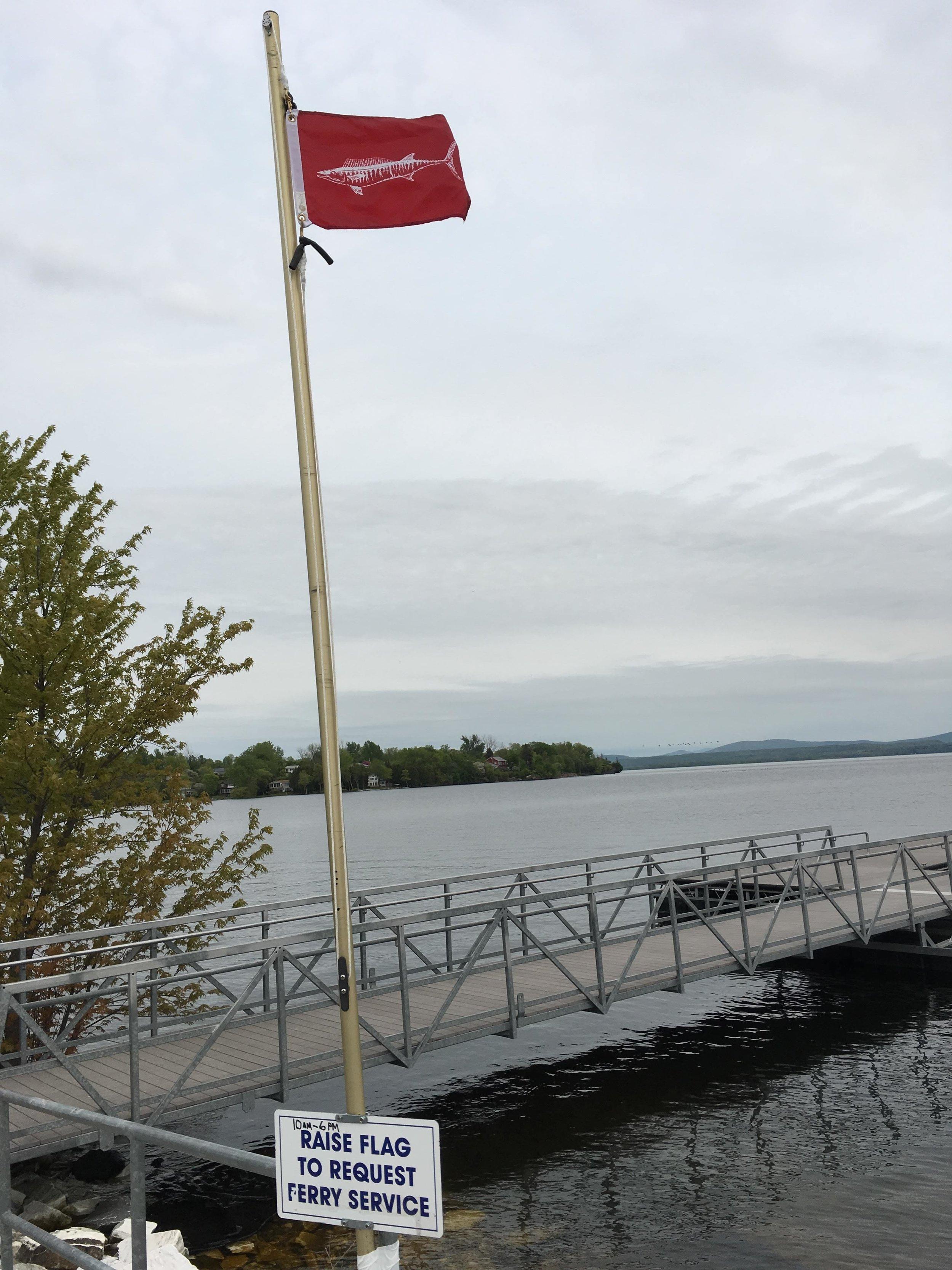 Ferry Service Flag in Burlington Vermont