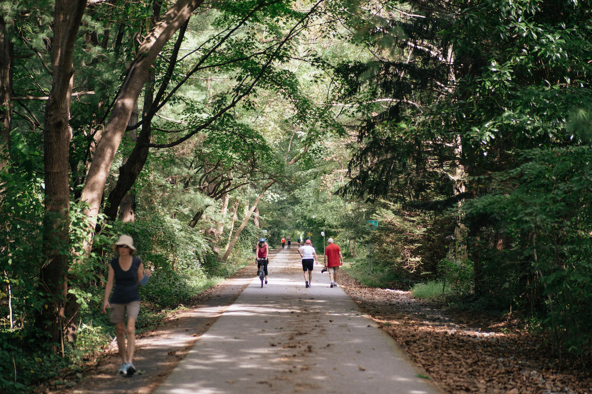 The Capital Crescent Trail in Washington, D.C. Photo by Hung Tran courtesy of Rails-to-Trails Conservancy.