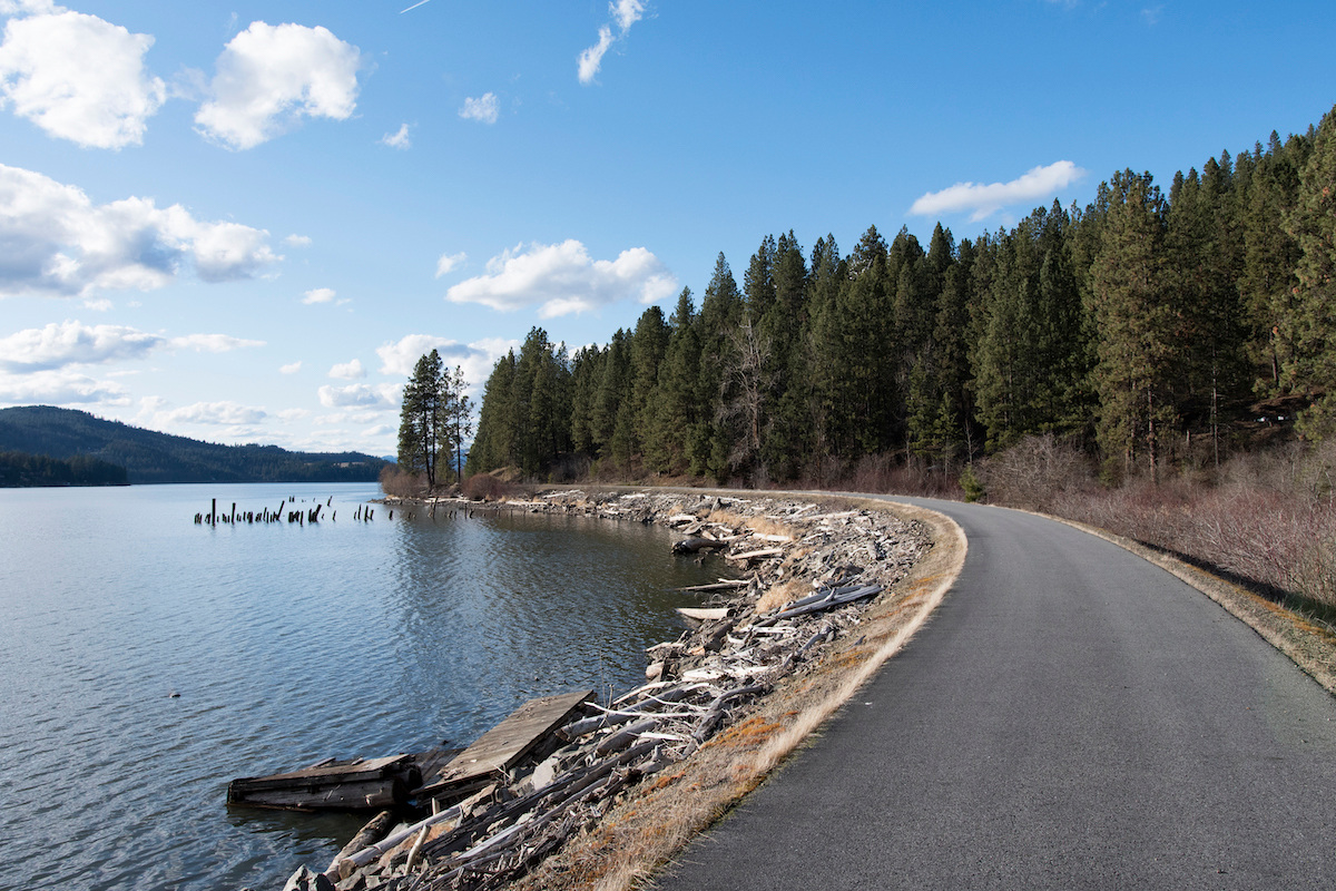 Trail of the Coeur d'Alenes. Photo by Lisa James courtesy of Rails-to-Trails Conservancy.