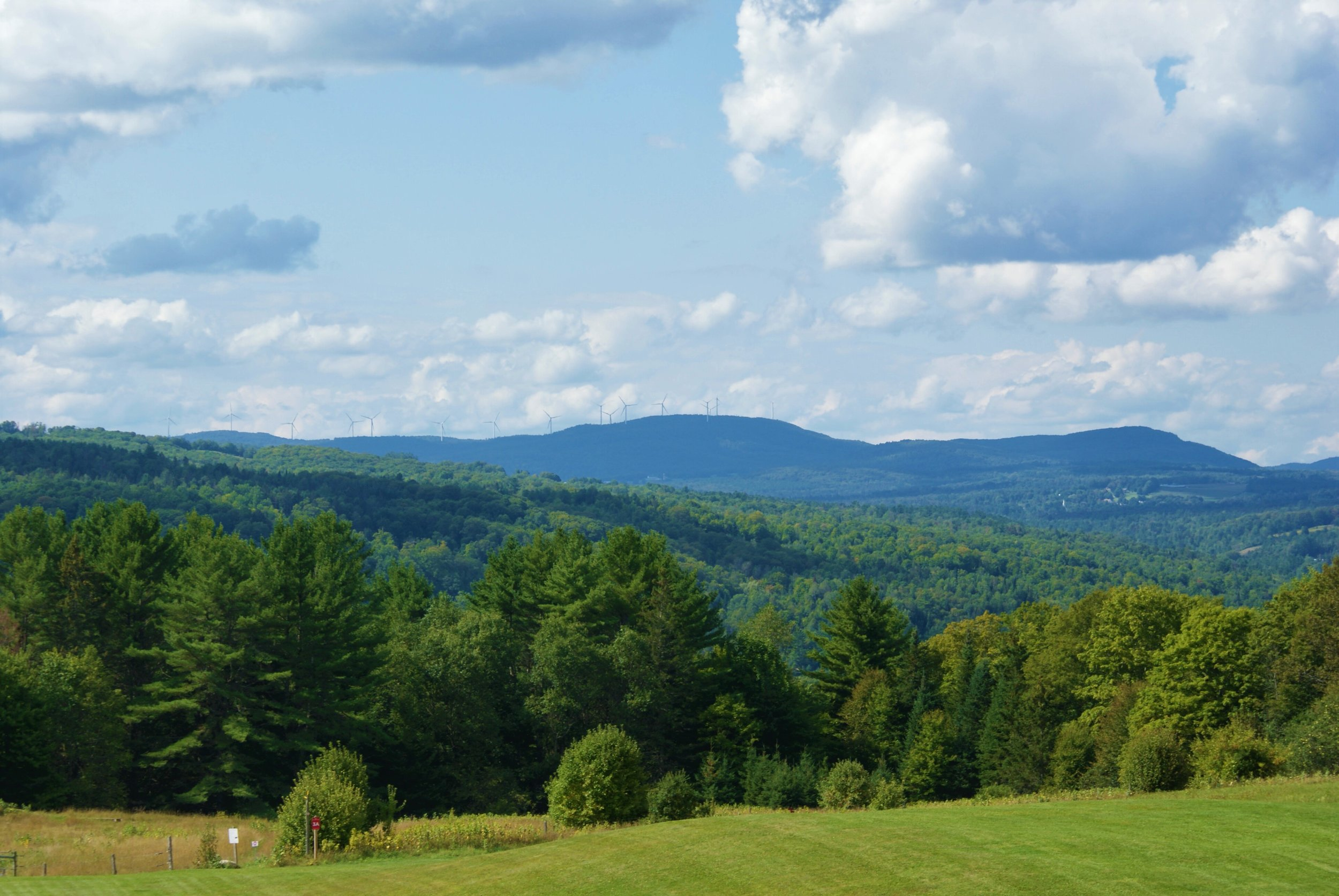 The view from Darling Hill Road, Lyndonville, Vermont.