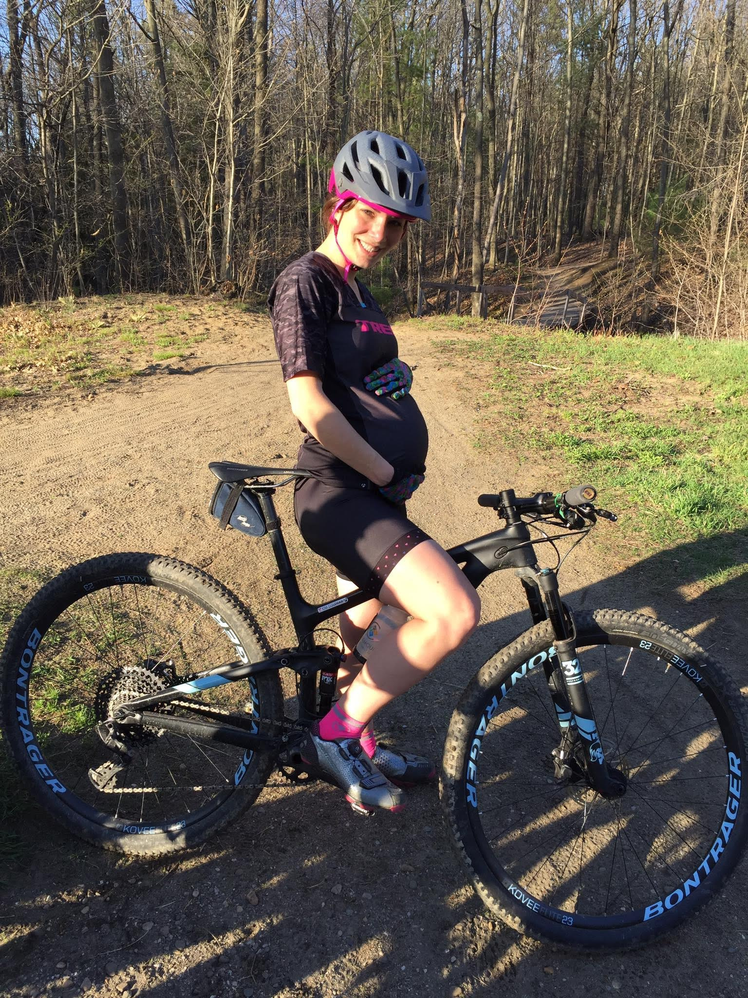 Kim Coleman  continued to ride during both pregnancies