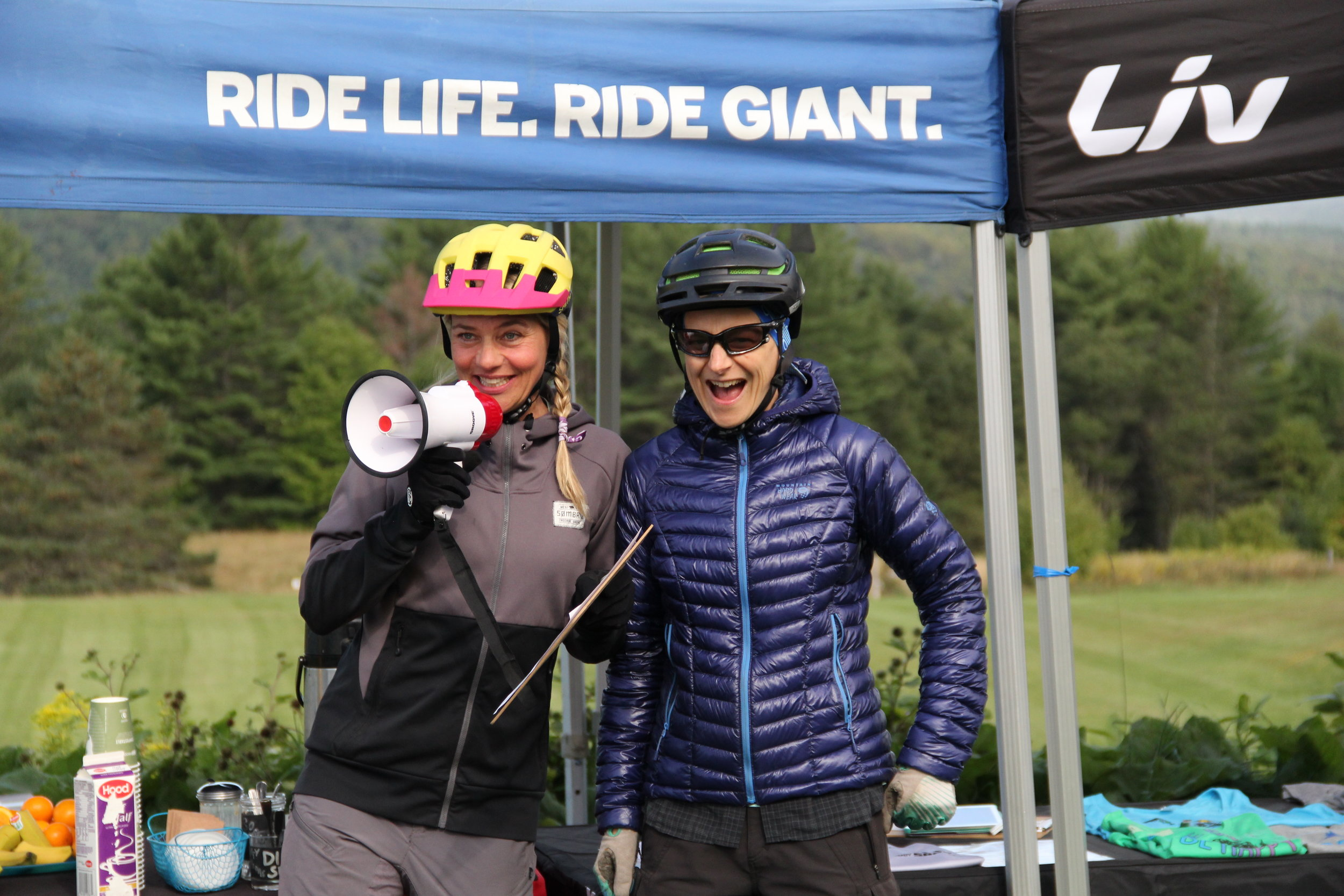 Lindsey with Karen Brooks, a coach who has been with Ladies AllRide since 2015.