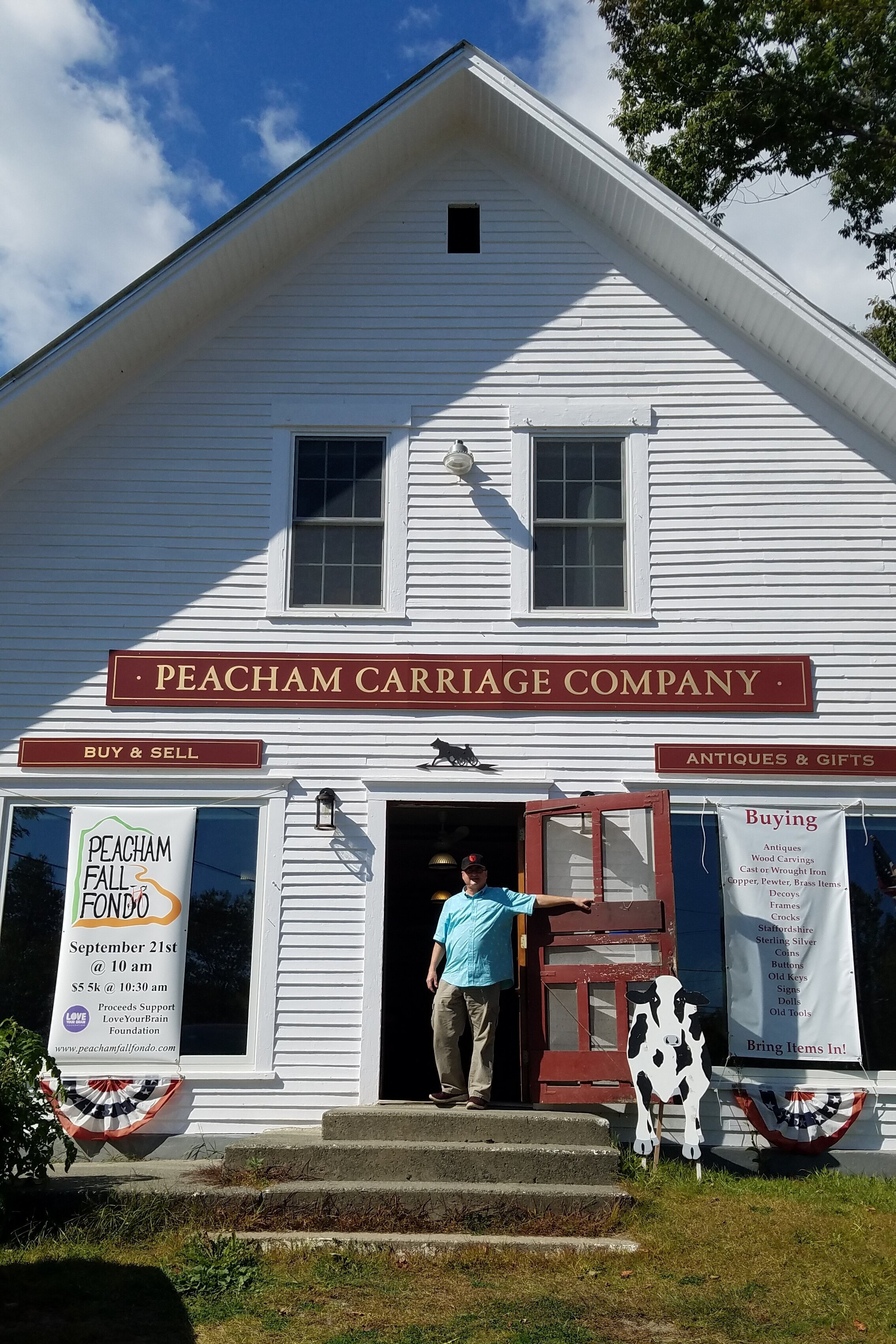 John from  Peacham Carriage Company  is an enthusiastic supporter of PFF.
