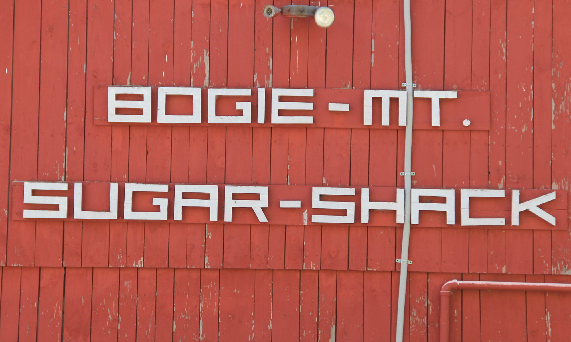 And sugar shacks…