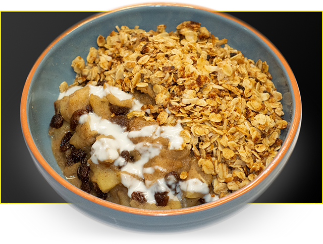 Bioflex's Healthy Protein Apple Crumble