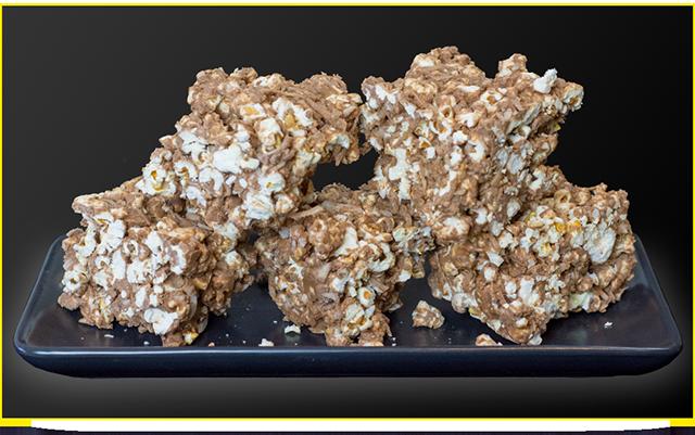 High Protein Chocolate Popcorn Slice from Bioflex
