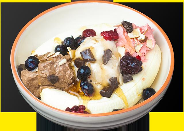 Banana Split With Protein Ice Cream Recipe from Bioflex Nutrition