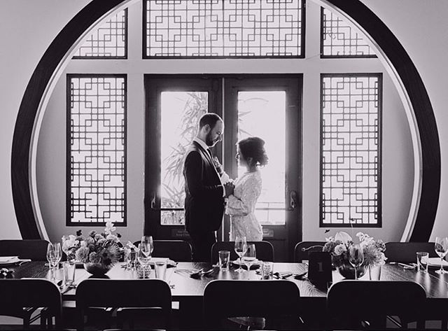 Our space, the old Four Seas banquet room, now Moongate Lounge, has hosted over 1020 weddings.  It's the spot for ❤️✨! Congratulations and best wishes Eleanor and Greg!!!! 😘
