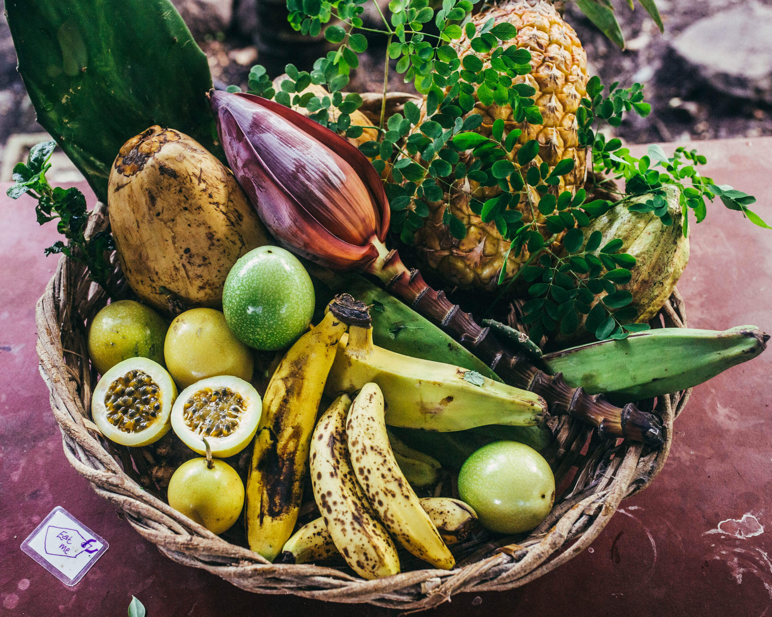 selection of seasonal fruits grown on the farm always available