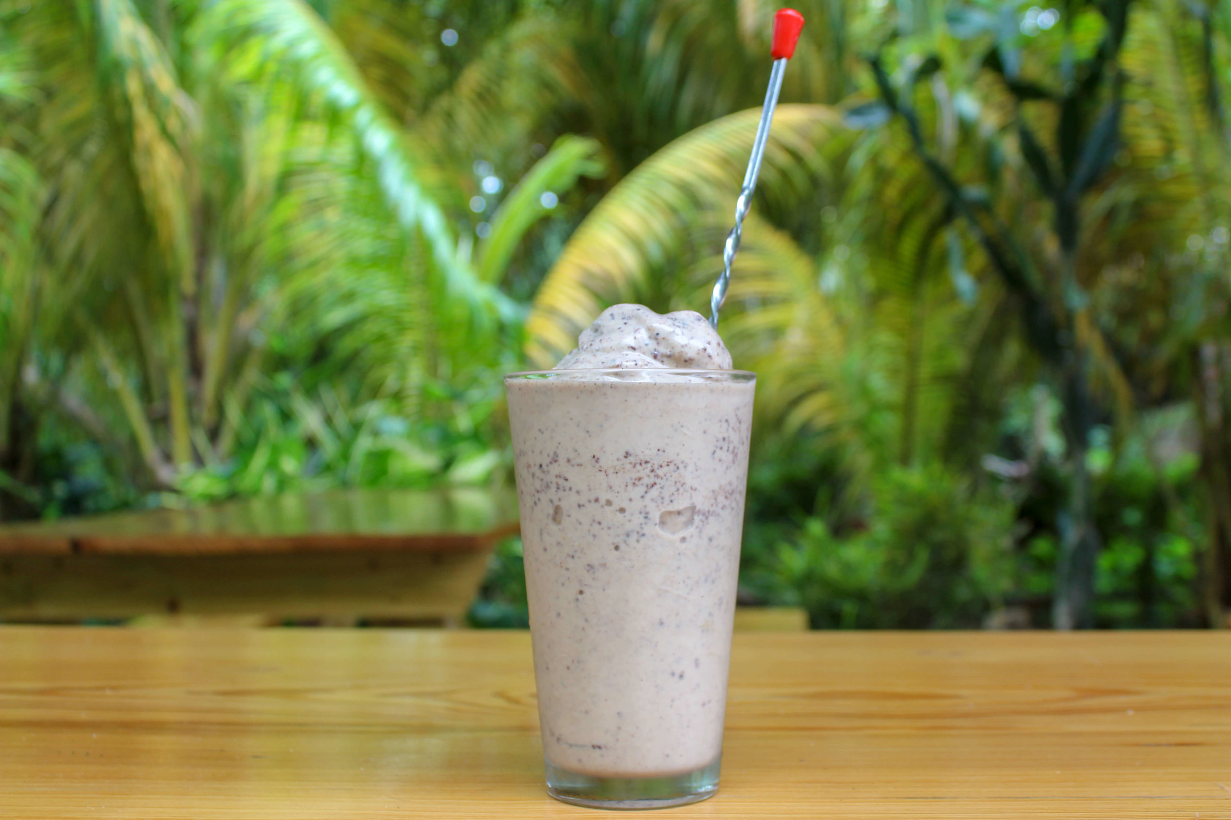 the famous Funky Monkey smoothie