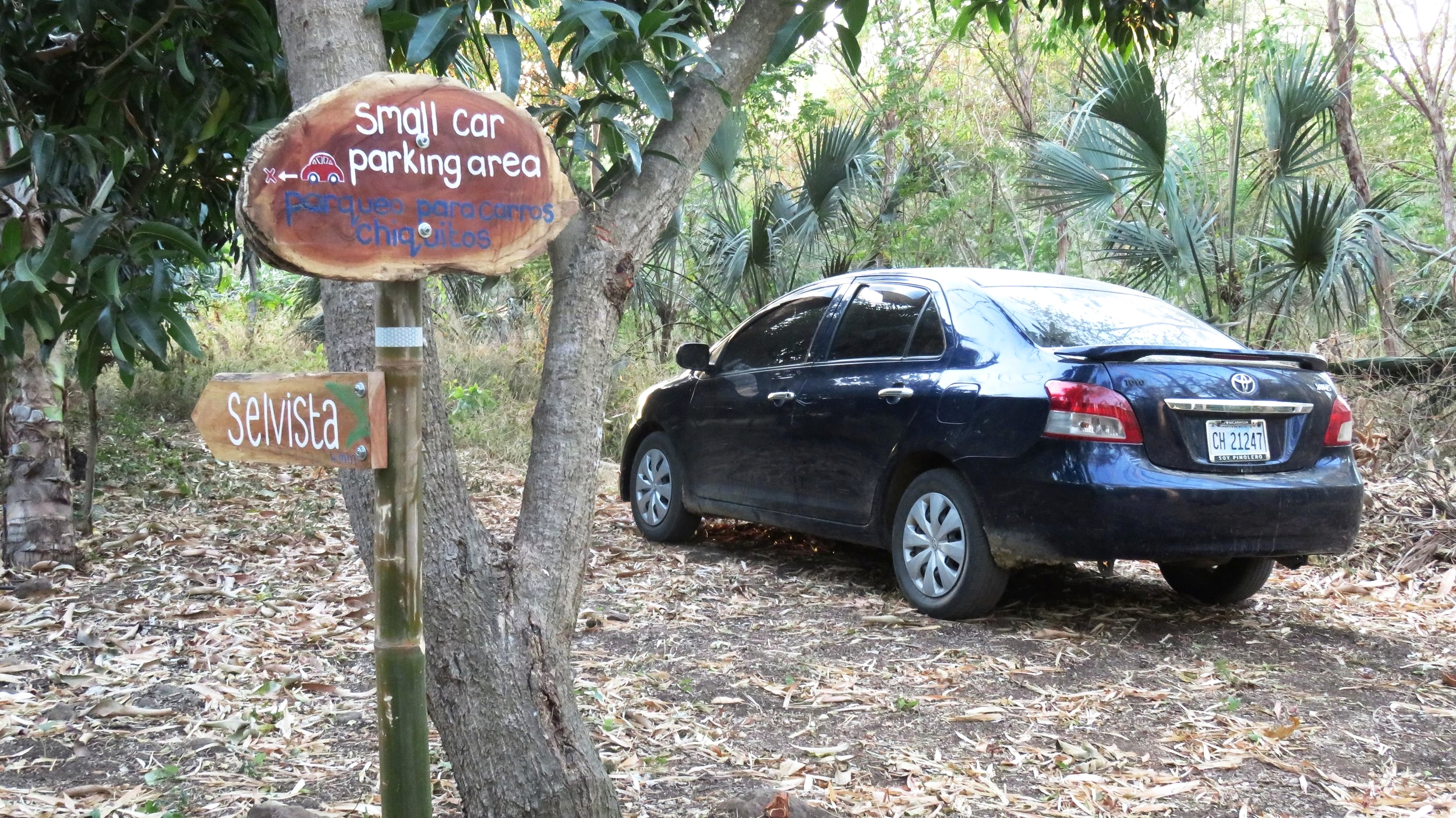 Off-road vehicle parking for guests at Selvista