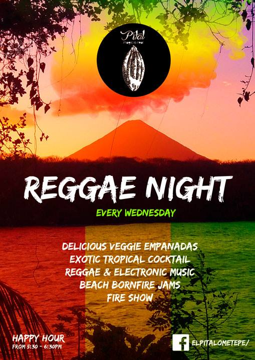Weekly events on Ometepe - Wednesday Reggae Night