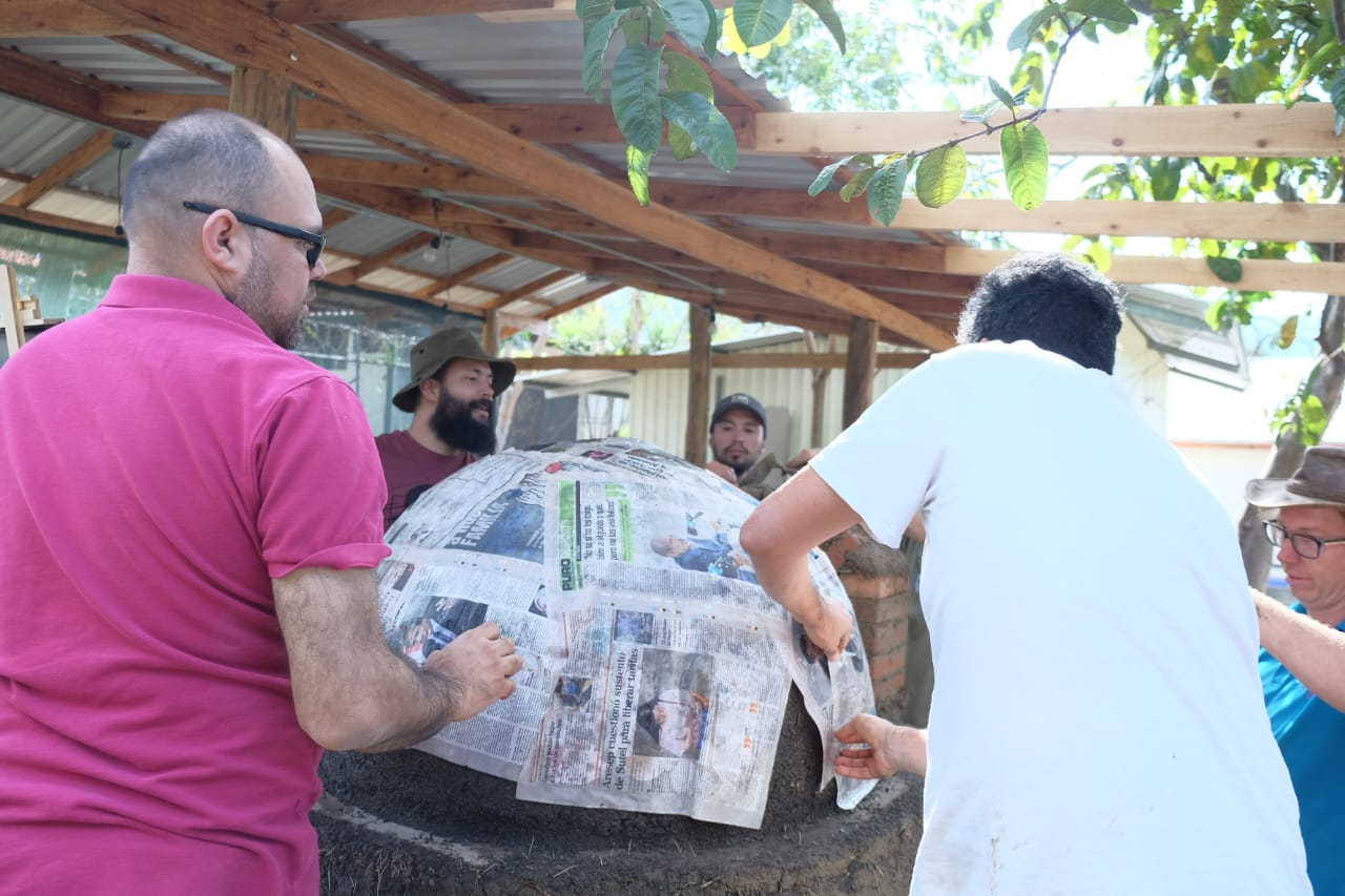 Hands-on practical course for clay oven construction coming soon to Selvista, Ometepe March 2020