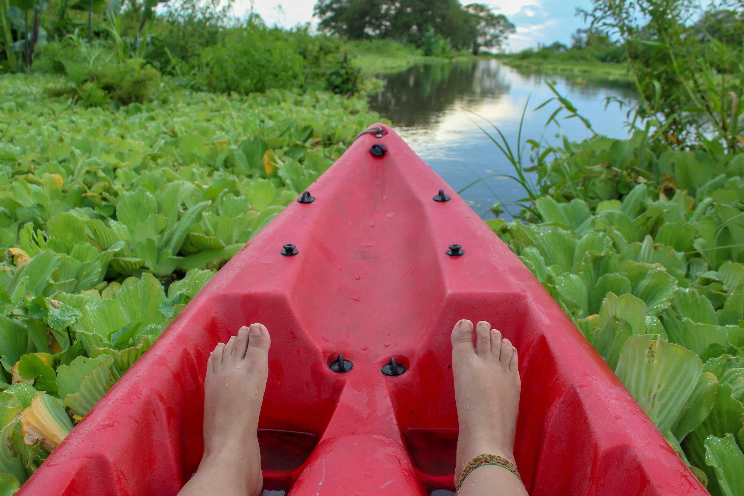 kayaking on Ometepe, Caballito del Mar, Istian river, Lake Nicaragua