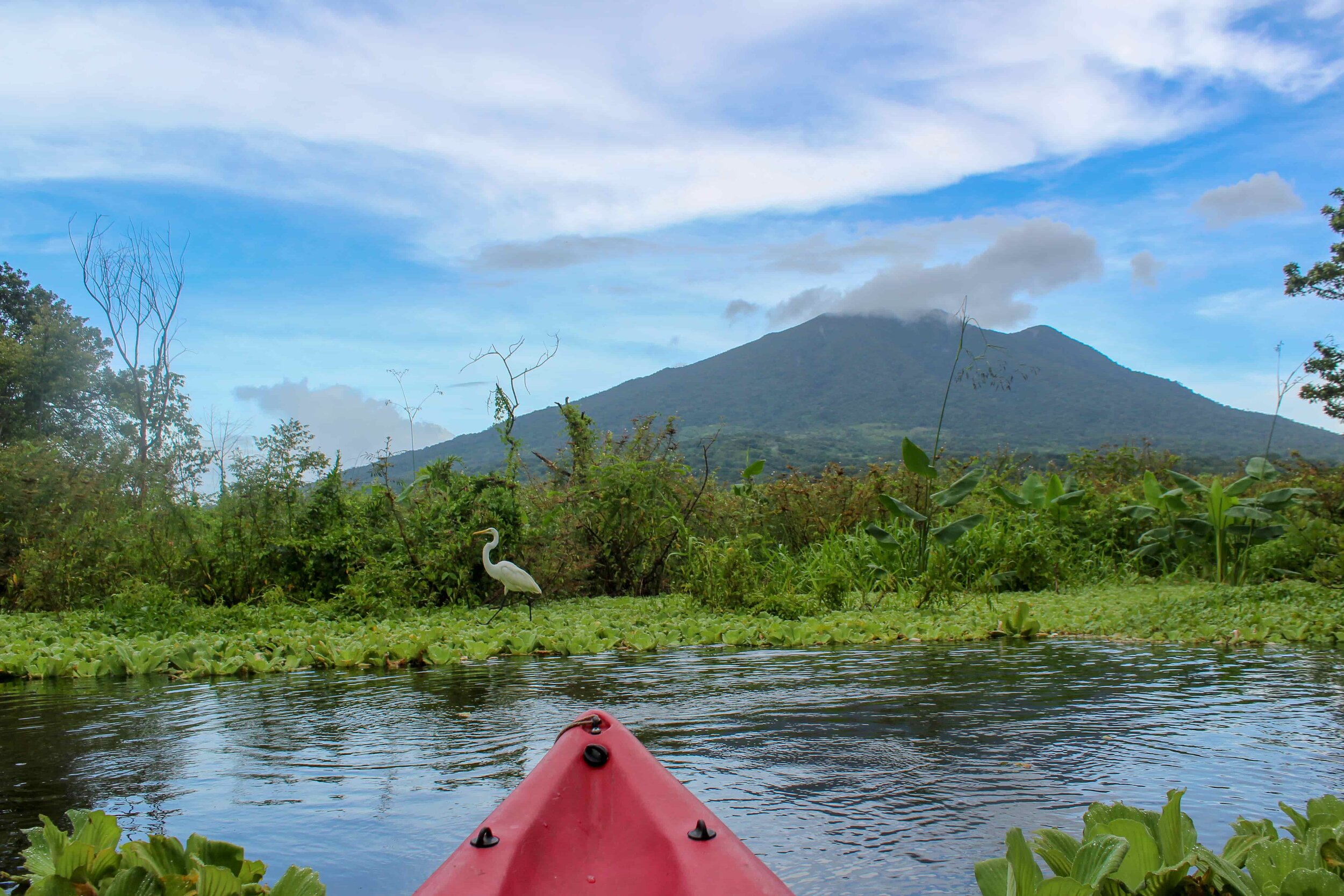 kayaking the istian, looking at Maderas, Ometepe (Lake Cocibolca)